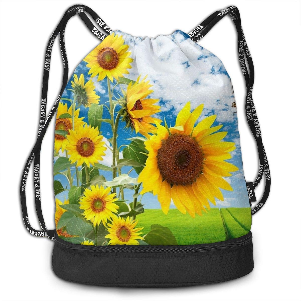 Gym Yoga Runner Sports Daypack Taco Pattern Funny Pattern Lovers Drawstring Bag For Girls /& Boys Portable Bundle Backpack
