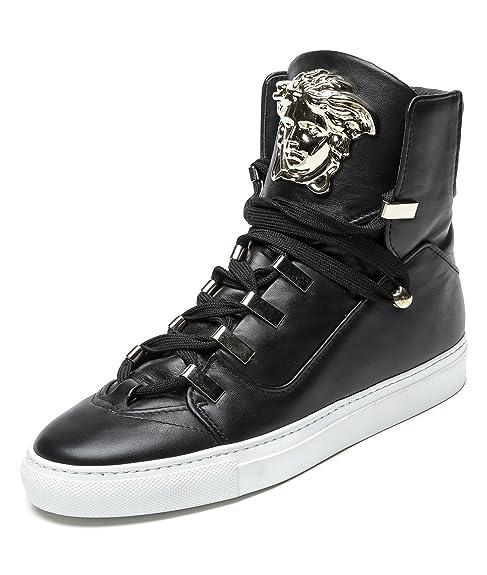 Wiberlux Versace Men's Medusa Head Accent High Top Sneakers ...