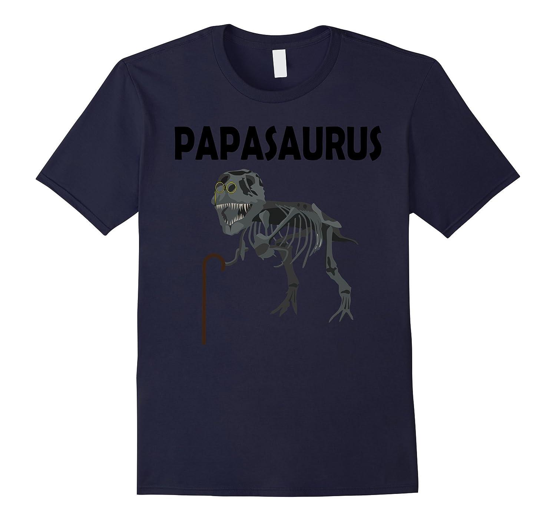 Mens Papasaurus Rex T-Shirt For Dads-Vaci