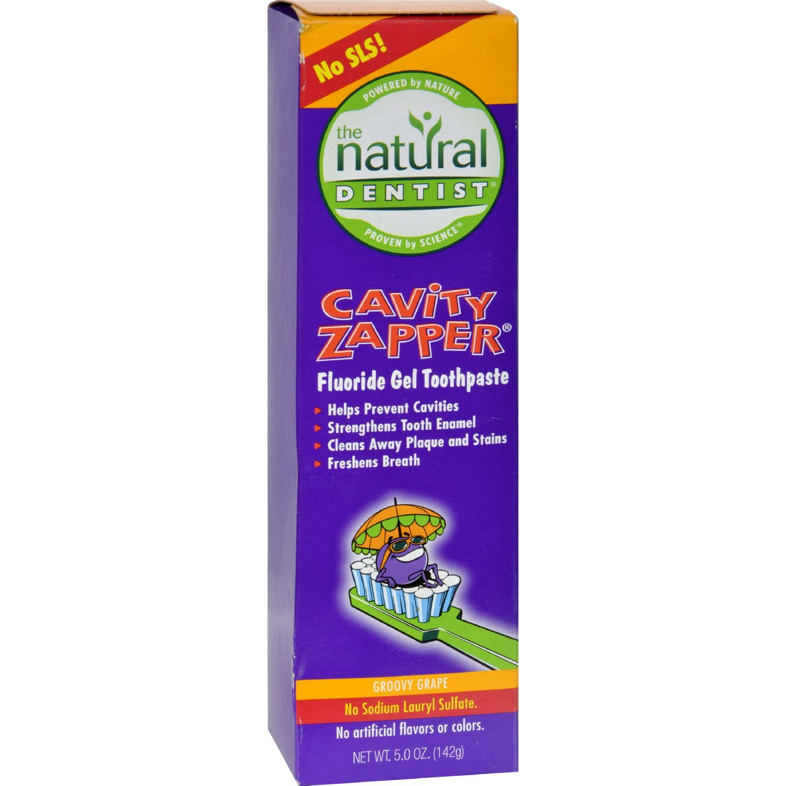 Natural Dentist Kids Cavity Zapper Toothpaste Buster Groovy Grape - No SLS - 5 oz (Pack of 4)