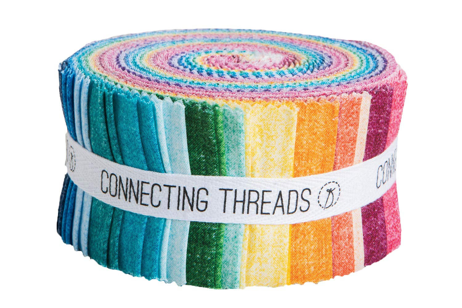 Swirl Tonals - 2.5 Strips Connecting Threads Blender Collection Precut Quilting Cotton Fabric Bundle
