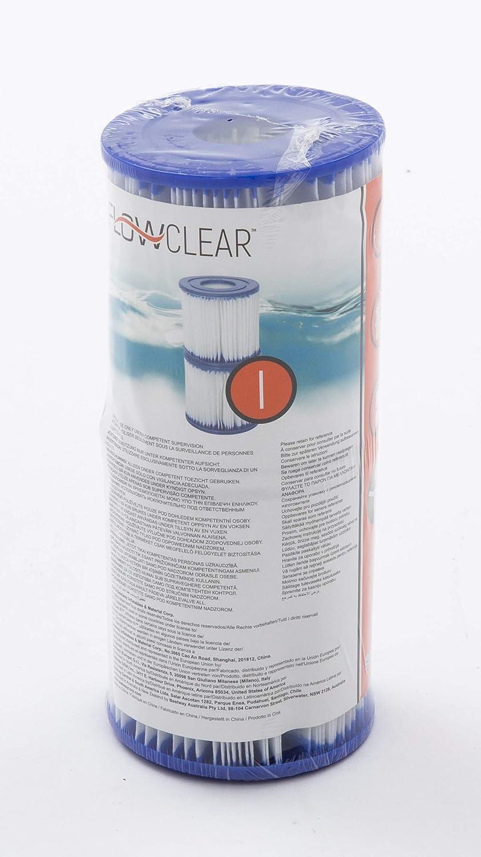 Online Attack 2X Bestway Flowclear 58093 Filterkartuschen Gr.I 8,0 x 9,0 Passend f/ür Flowclear Pool Filterpumpe 58381