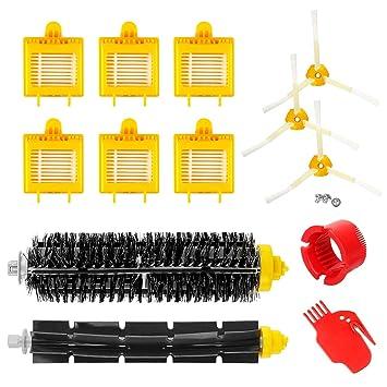 Powilling 700 Serie Kit Recambios aspiradoras de Cerdas repuestos de Accesorios para iRobot Roomba Serie 700 760 770 772 774 775 776 780 782 785 786 790: ...