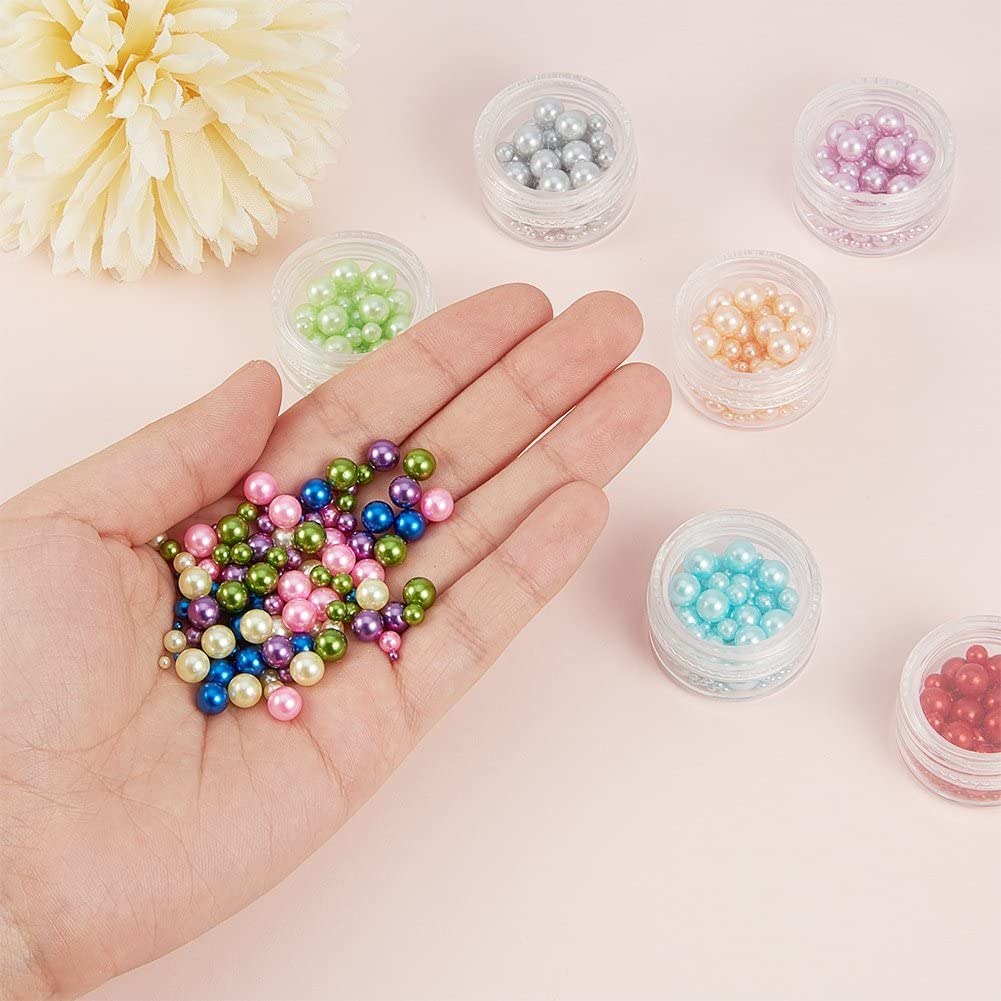 2mm, 4mm, 6mm PH PandaHall 1 Box 1500 Pieces 12 Color 3 Size No Holes//Undrilled Imitated Pearl Beads Garment Accessories for Vase Fillers Wedding Birthday Party Home Decoration