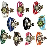 Swadesi Stuff Analogue Multicolor Dial Women's & Girl's Combo Of 10 Watch