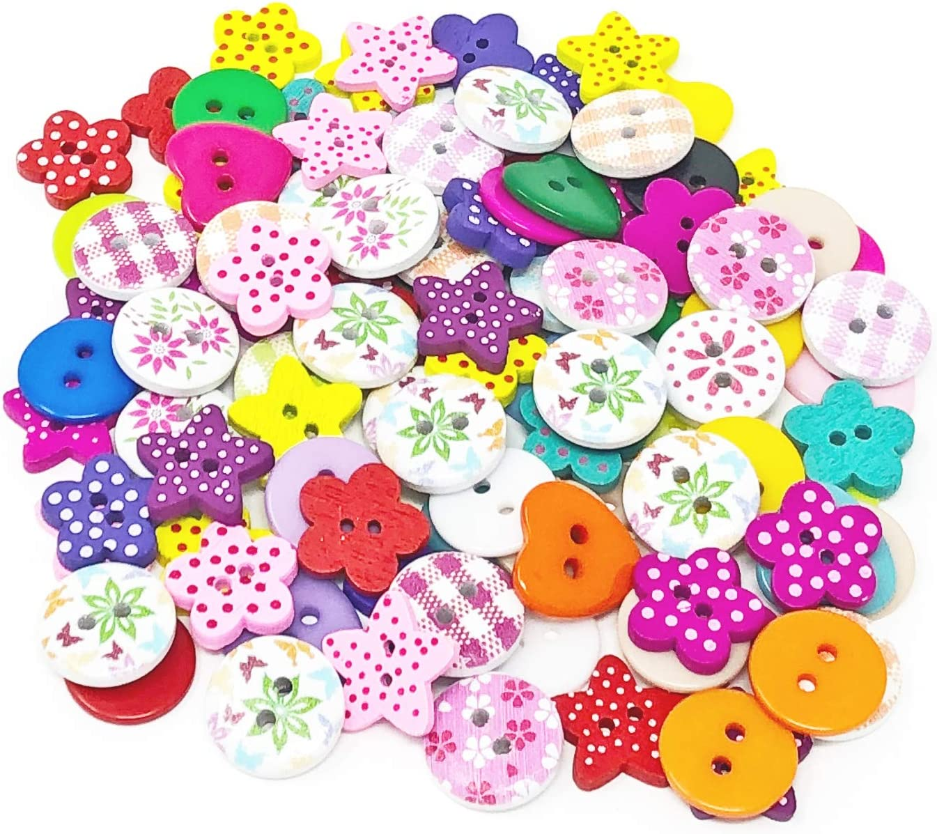 Special Touches 150pcs Xmas Mix Wood Acrylic /& Resin Buttons For Cardmaking Embellishments