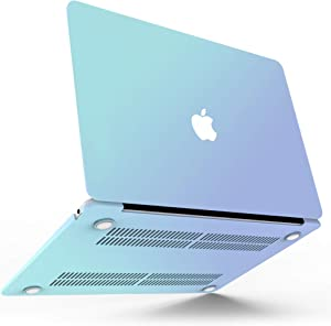 MacBook Pro 13 inch Case 2020 (Model: A2338 M1 A2289 A2251), MacBook Pro 2020 Case, Smooth Laptop Plastic Hard Shell Compatible with Mac Pro 13.3 with Touch Bar + Keyboard Cover, Gradient Blue