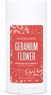 product image for Schmidt's Aluminum Free Natural Deodorant for Women and Men, Geranium Flower for Sensitive Skin with 24 Hour Odor Protection, Certified Cruelty Free, Vegan Deodorant, 3.25 oz