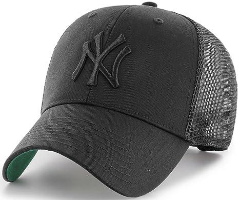 47 Brand L.A. Dodgers Branson MVP Trucker Cap - Black on Black ... 2af119c35ac