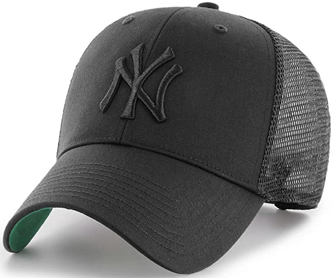 Gorra trucker negra con logo negro de New York Yankees MLB MVP Branson de 47 Brand