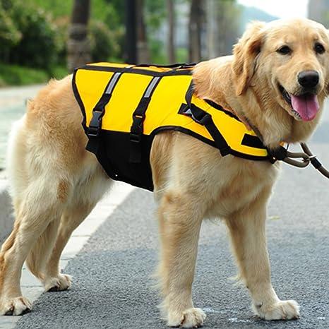 Tookie Chaleco salvavidas para perro, ajustable con hebillas ajustables, S-L