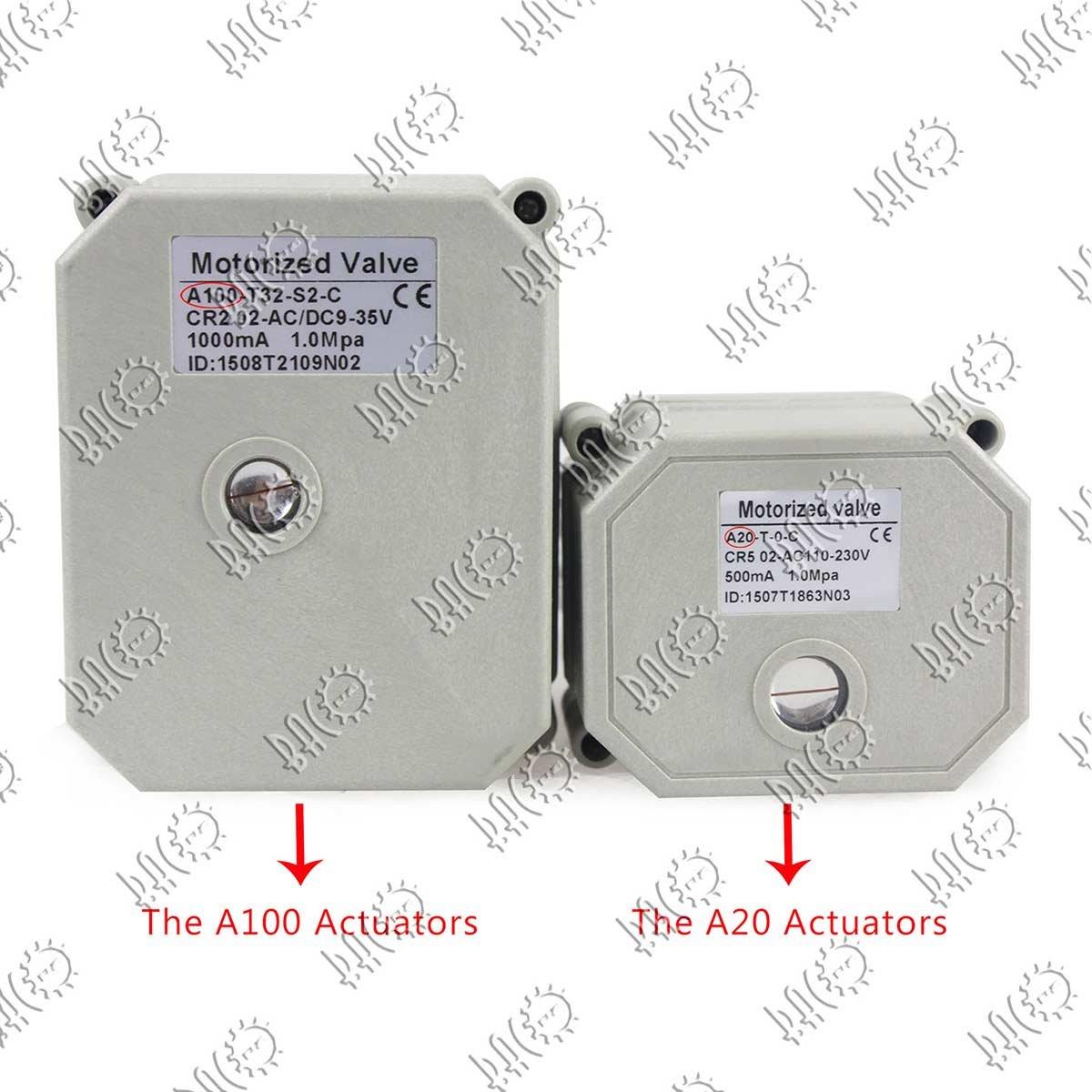 BACOENG Vanne 2 voies motoris/ée 2 DN50 Acier Inoxydable AC110//230V CR202 normalement ferm/ée