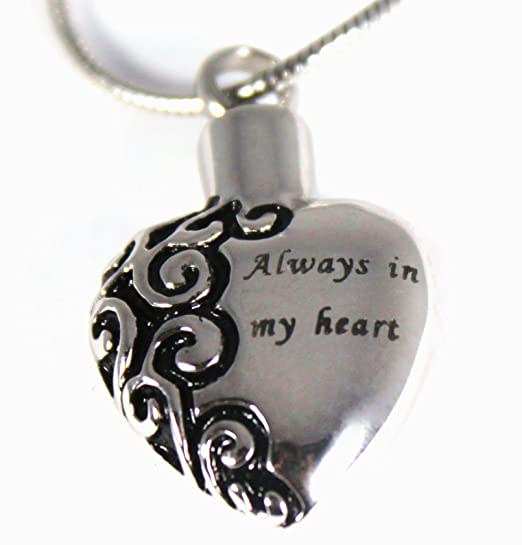 Amazon 1 best pet memorial jewelry always in my heart amazon 1 best pet memorial jewelry always in my heart silver tone urn pendant high grade stainless steel pet memorial with secret pet urn aloadofball Images