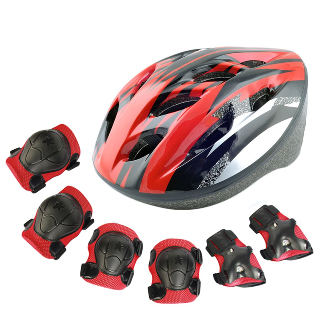 RuiyiF 7Pcs Sports Safety Protective Gear for Kids,Elbow Pads Knee Pads with Wrist Guard and Helmet for Scooter Skateboarding Skating Cycling Biking