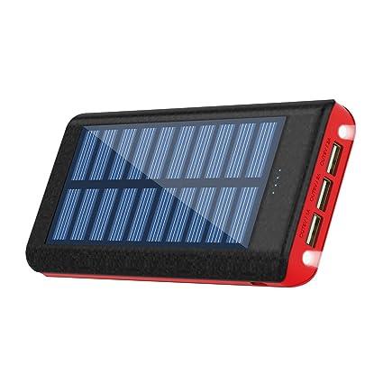 Amazon.com: Cargador solar de batería portátil de 25000 mAh ...