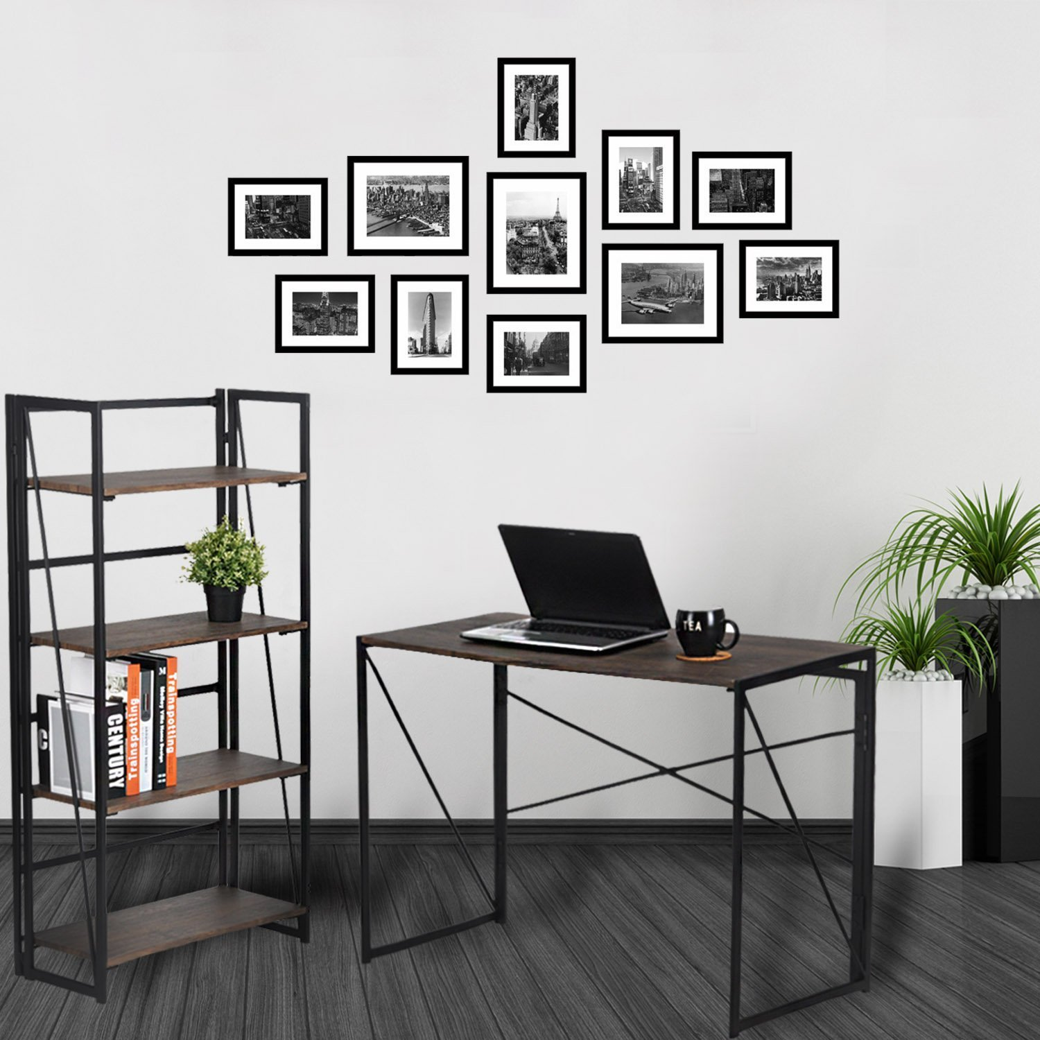 Writing Computer Desk Modern Simple Study Desk Industrial Style ...