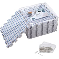 KnitIQ Blocking Mats for Knitting ? Extra Thick Blocking Boards with Grids with 100 T-pins and Storage Bag for…