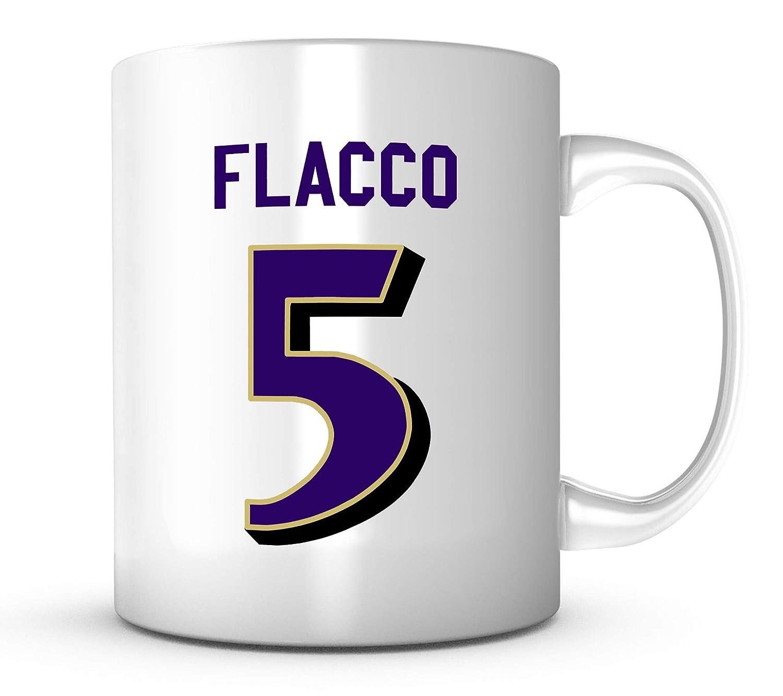 sports shoes 6e7ae 8dd04 Joe Flacco Mug - Jersey Number Football Coffee Cup at ...