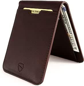 Vaultskin Manhattan slim bifold wallet with RFID protection (Brown)