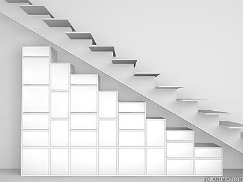 Regal Unter Treppe design regal regal unter treppe und dachschräge amazon de küche