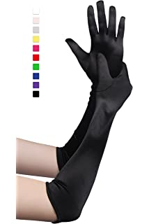 Ladies Soft Over The Elbow Long Gloves Women Cotton Gloves Fancy Dress Accessory
