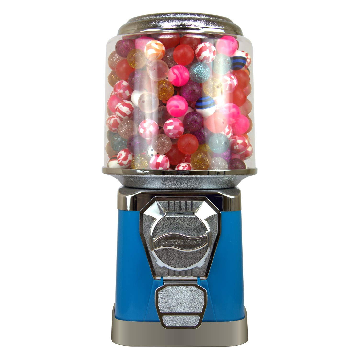 Gumball Machine for Kids - Blue Vending Machine with Cylinder Globe - Bubble Gum Machine for Kids - Home Vending Machine - Coin Gumball Machine - Bubblegum Machine - Gum Ball Machine Without Stand