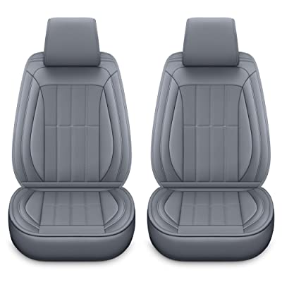 LUCKYMAN CLUB 2 Front Car Seat Covers Fit for Baja Impreza Outback Forester Jeep Renegade Liberty Kia Optima Sportage Soul Vw Jetta (2 PCS Front, Gray): Automotive