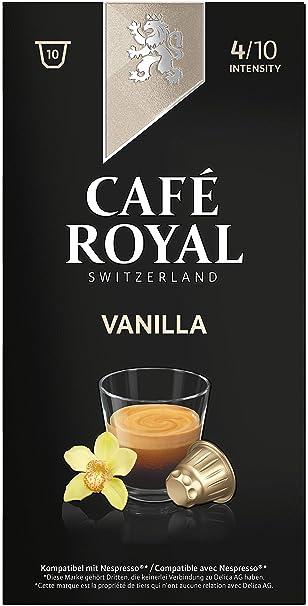 Café Royal Flavoured Edition Vanilla 50 cápsulas compatibles con Nespresso* Intensidad: 4 de 10