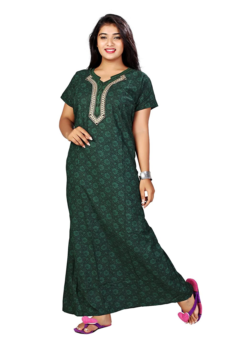 official supplier new items superior quality Bailey Women's Cotton Nighty, Free Size (Dark Green ...