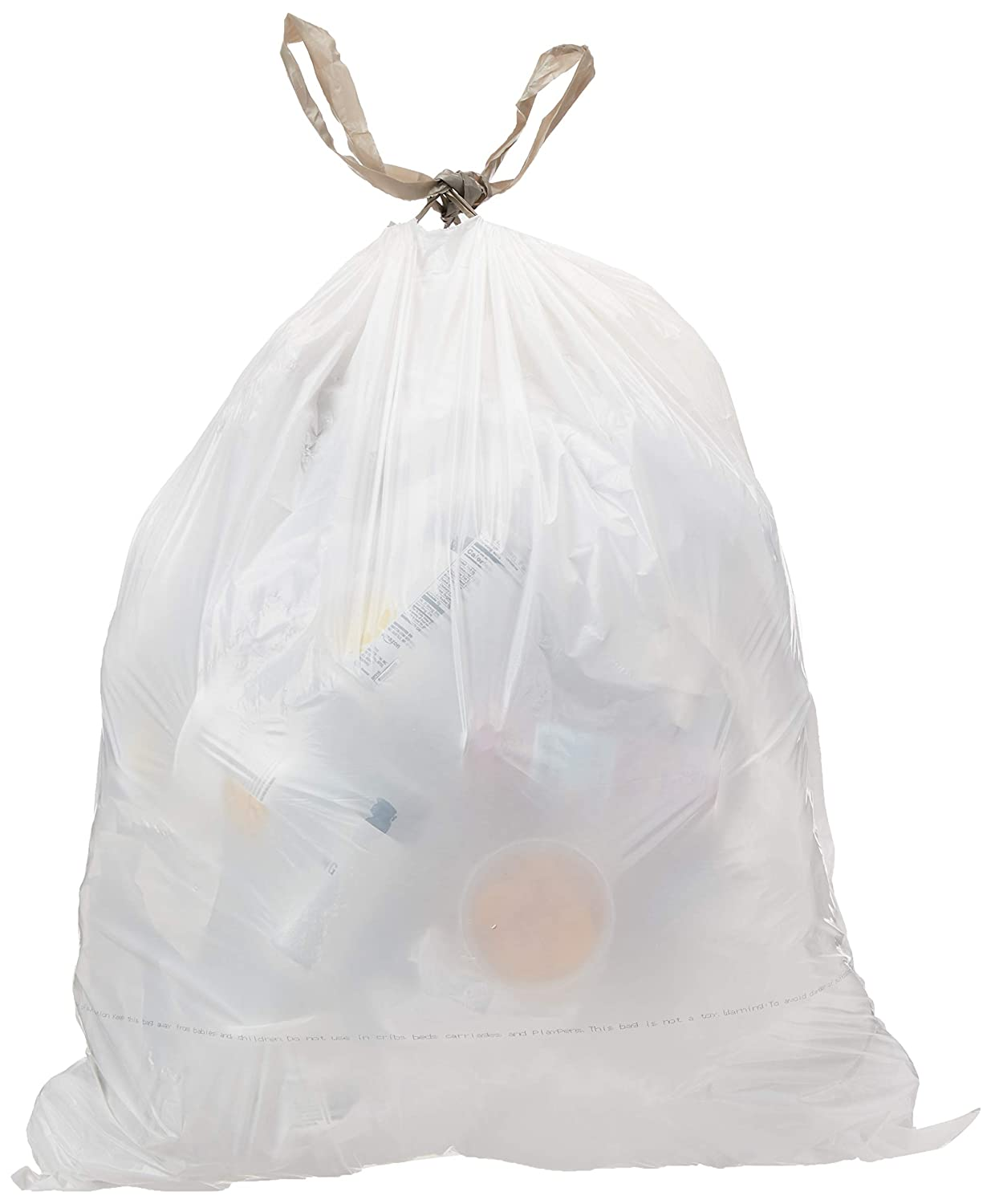 AmazonCommercial 18 Gallon Trash Compactor Bags /w Drawstrings - 2 MIL - 50 Count