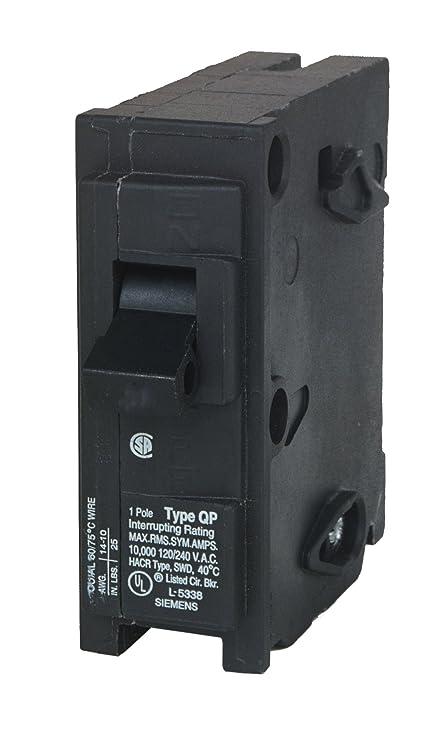 Siemens Q115U 15 Amp, 1 pole, 120-Volt Circuit Breaker - Thermal ...
