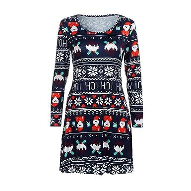 Dorical Damen Weihnachten Outfit Lang Etuikleid Kleider Schicke
