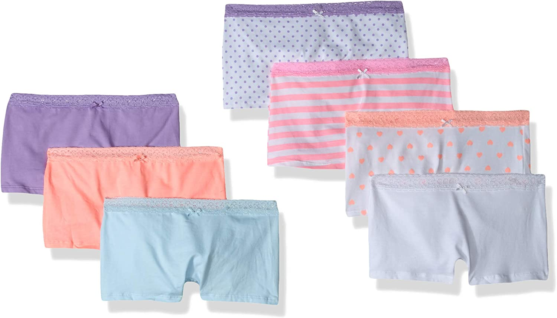 The Childrens Place Big Girls 7 Pack Novelty Printed Boy Shorts Underwear Set