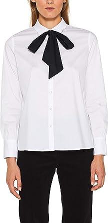 Esprit 109eo1f024 Blusa, Blanco (White 100), 36 (Talla del Fabricante: 34) para Mujer: Amazon.es: Ropa y accesorios