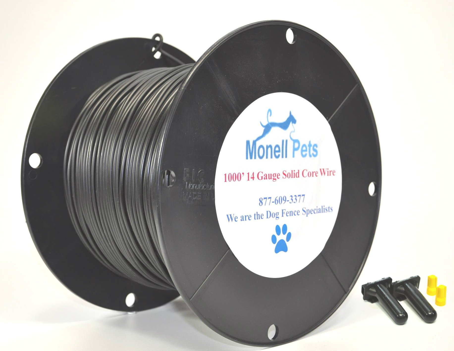 14 Gauge Superior Pro Heavy Duty Superior Pro Dog Fence Wire 1000 Ft by Monell Pets by Monell
