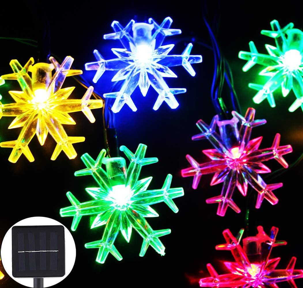 1Pack,Multicolo Inngree Solar Christmas String Lights 20 ft 30 LED ...
