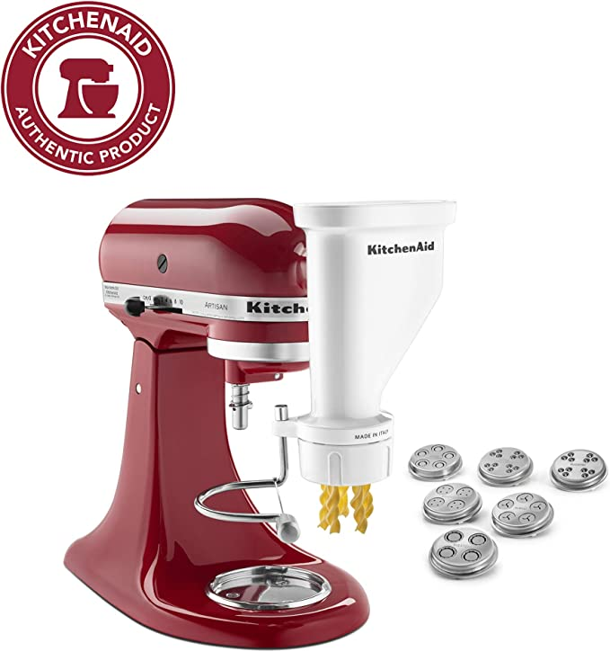KitchenAid KSMPEXTA Pasta press batidora y accesorio para mezclar alimentos - Accesorio procesador de alimentos (Pasta press, Acero inoxidable, Acero inoxidable, Acero inoxidable): Amazon.es: Hogar