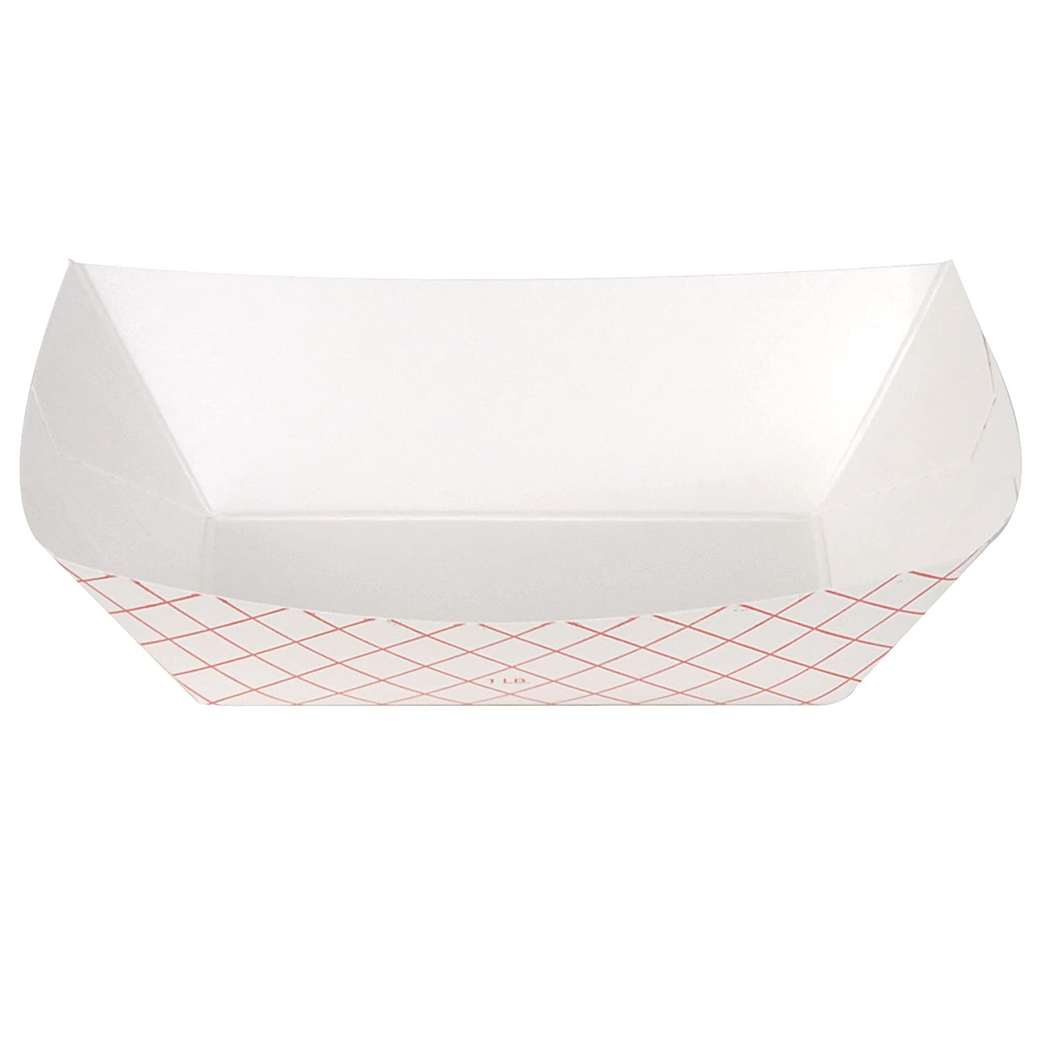 Dixie 1# Polycoated Paper Food Tray by GP PRO (Georgia-Pacific), Kant Leek, Red Plaid, 1lb, RP1008, 1,000 Count (250 Trays Per Pack, 4 Packs Per Case)