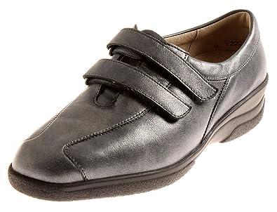 Solidus Solicare Halbschuhe Damenschuhe Klett Leder Schuhe
