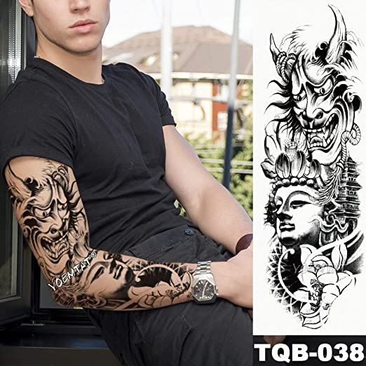 tzxdbh Nueva Etiqueta engomada del Tatuaje Temporal Guerrero ...