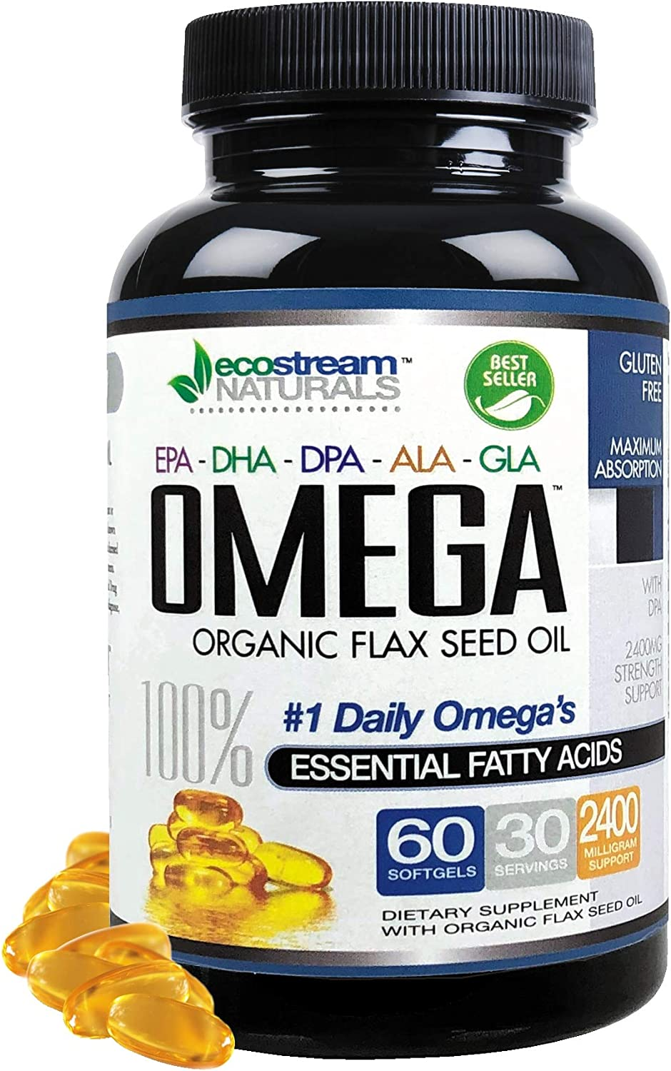 Amazon Com Omega 3 6 9 Blend With Dpa Epa Dha Ala And Gla And