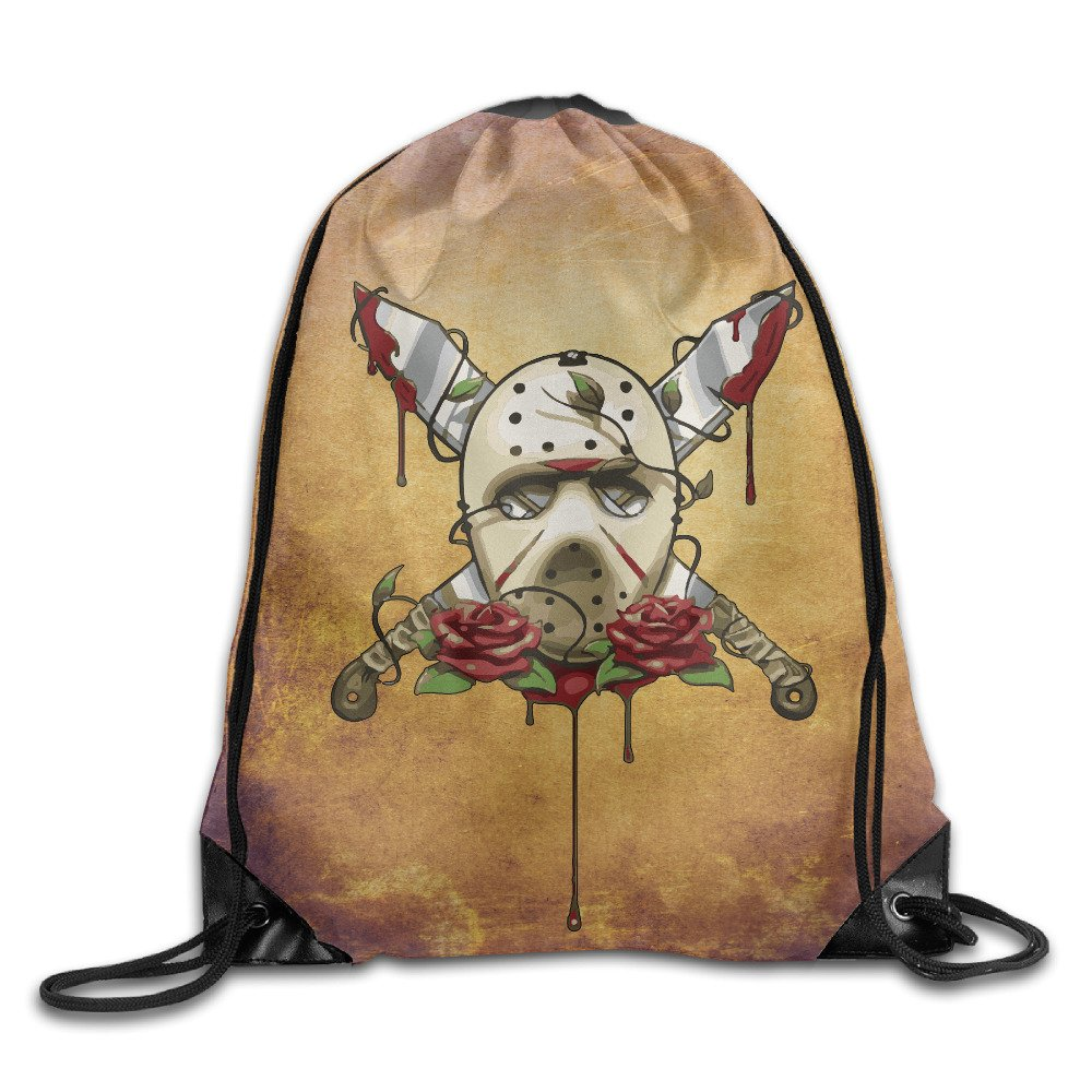 Drawstring Backpack Bag Jason Voorhees Friday The 13th