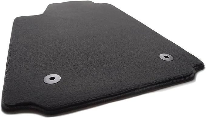Fußmatte Velours Automatte Fahrerseite 1 Teilig Fahrermatte Schwarz Auto