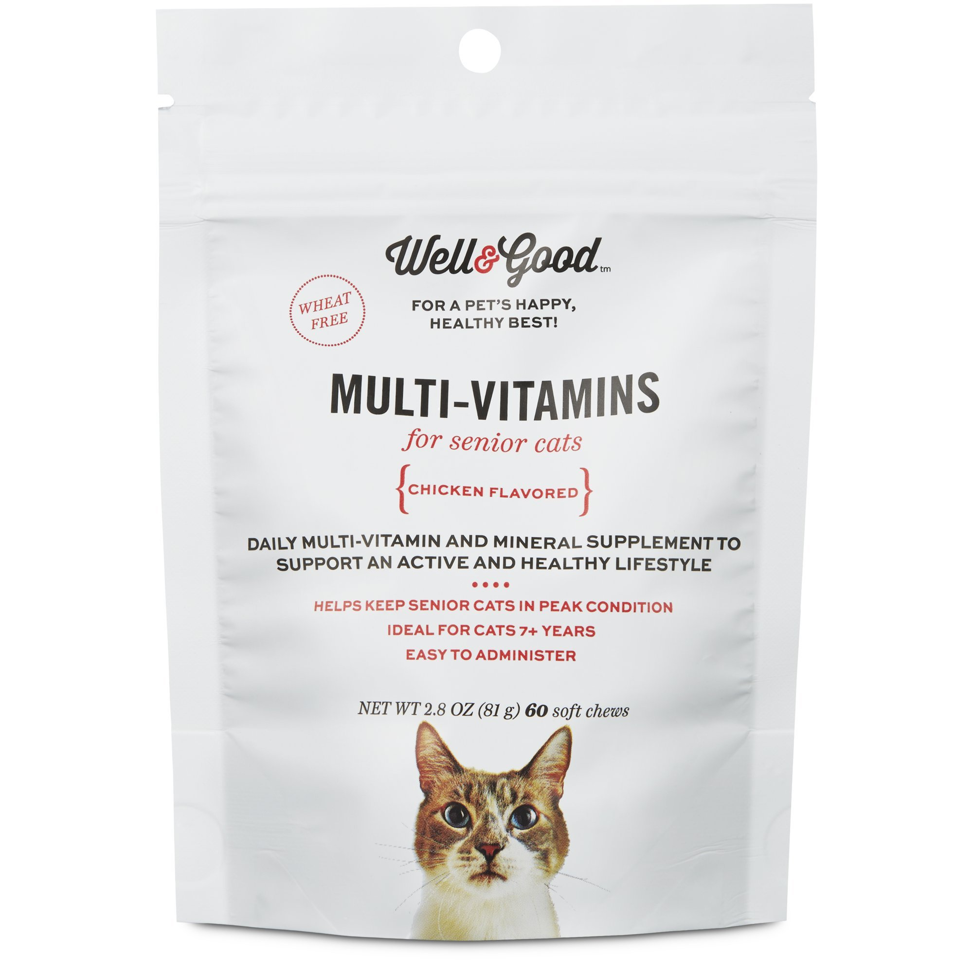 Well & Good Multi Vitamin for Senior Cats, 60 ct by Well & Good