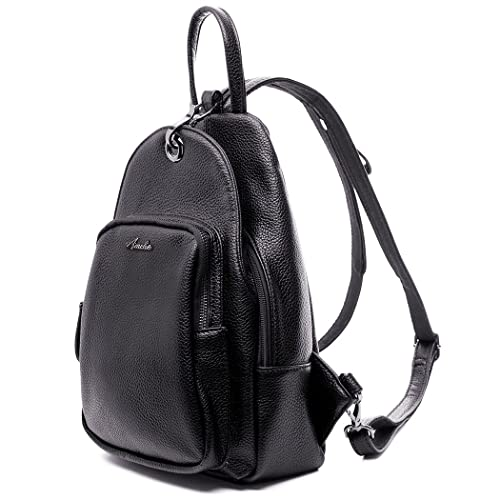 AMELIE GALANTI Backpack Purse for Women Pu Leather Casual Daypack Shoulder Bag