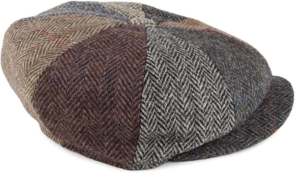 Failsworth Lewis Bakerboy//Newsboy Patchwork Tweed Wool Cap