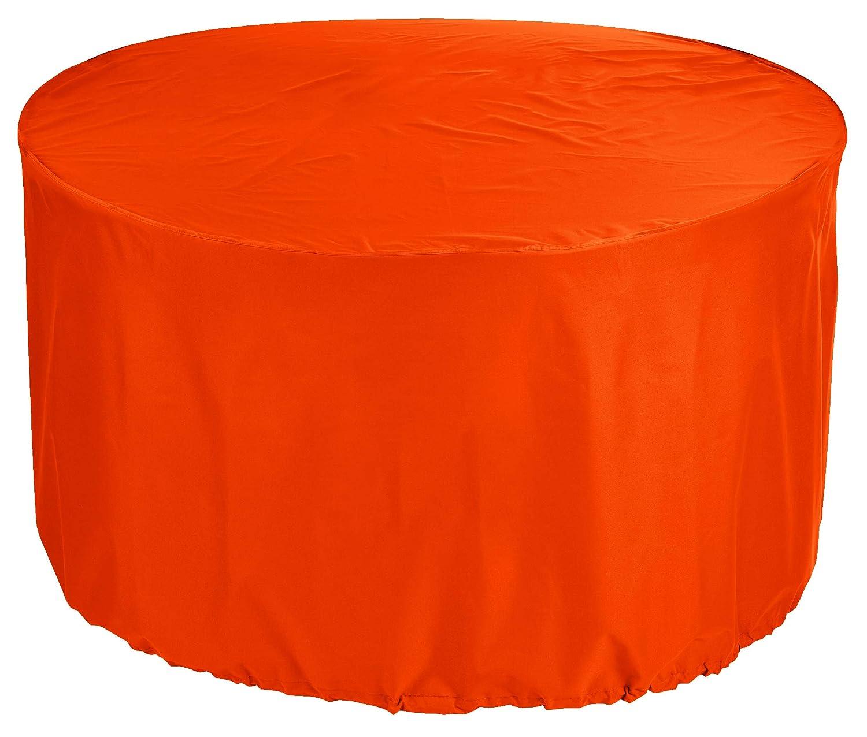 KaufPirat Premium - Telone di Copertura per mobili da Giardino, rossoondo, Ø 150 x 90 cm, colore  Arancione
