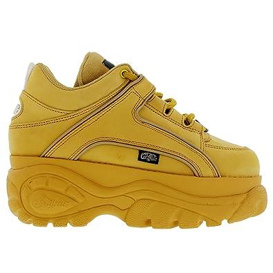 0ef67609897 Buffalo Womens 1339-14 Platform Yellow Nubuck Shoes 38 EU  Amazon.co ...