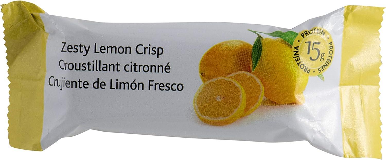 Proti Fit VLC - Zesty Lemon Crisp - Low-Carb 15g Protein Diet Bar - High Fiber Weight Loss Snack/Post Workout Protein Bar Bar - Gluten Free (7 Count)