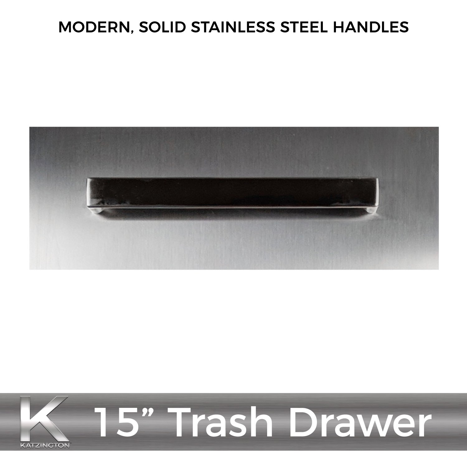 Katzington BBQ ISLAND TRASH DRAWER - Modern Style - 15'' Trash Drawer - 304 Grade Stainless Steel - Double Walled Construction - Barbecue Island/Outdoor Kitchen Access Door - Soft Close Drawer Glides by Katzington (Image #9)